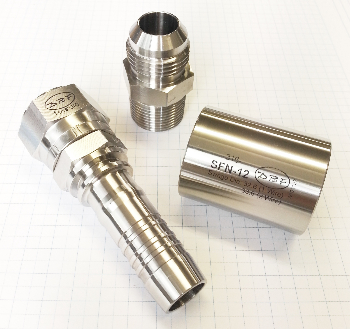 Stainless hydraulick fittings 2 over-583